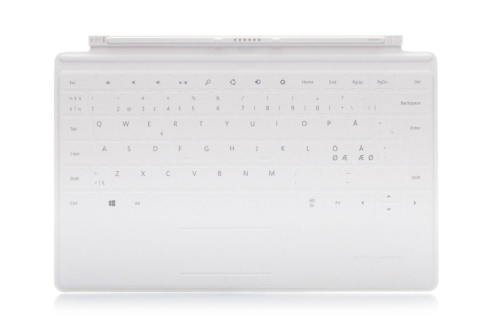 Keyboard Microsoft Surface Touch Cover 1 White QWERTY (Nordic) Grade A