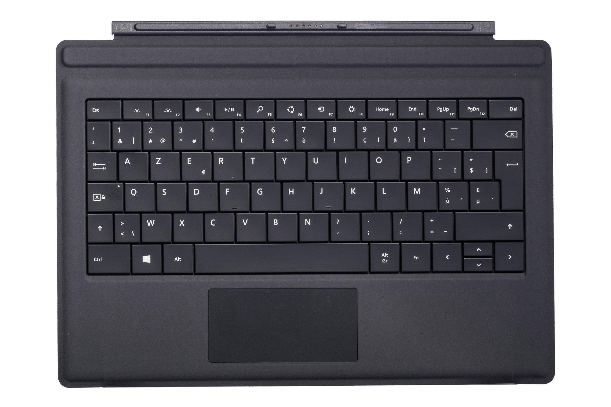 Keyboard Microsoft Surface Type Cover Pro 3 Black AZERTY (Belgian) Grade B