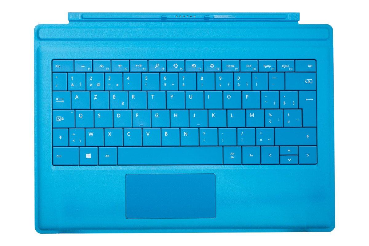 Keyboard Microsoft Surface Type Cover Pro 3 Cyan AZERTY (Belgian) Grade C