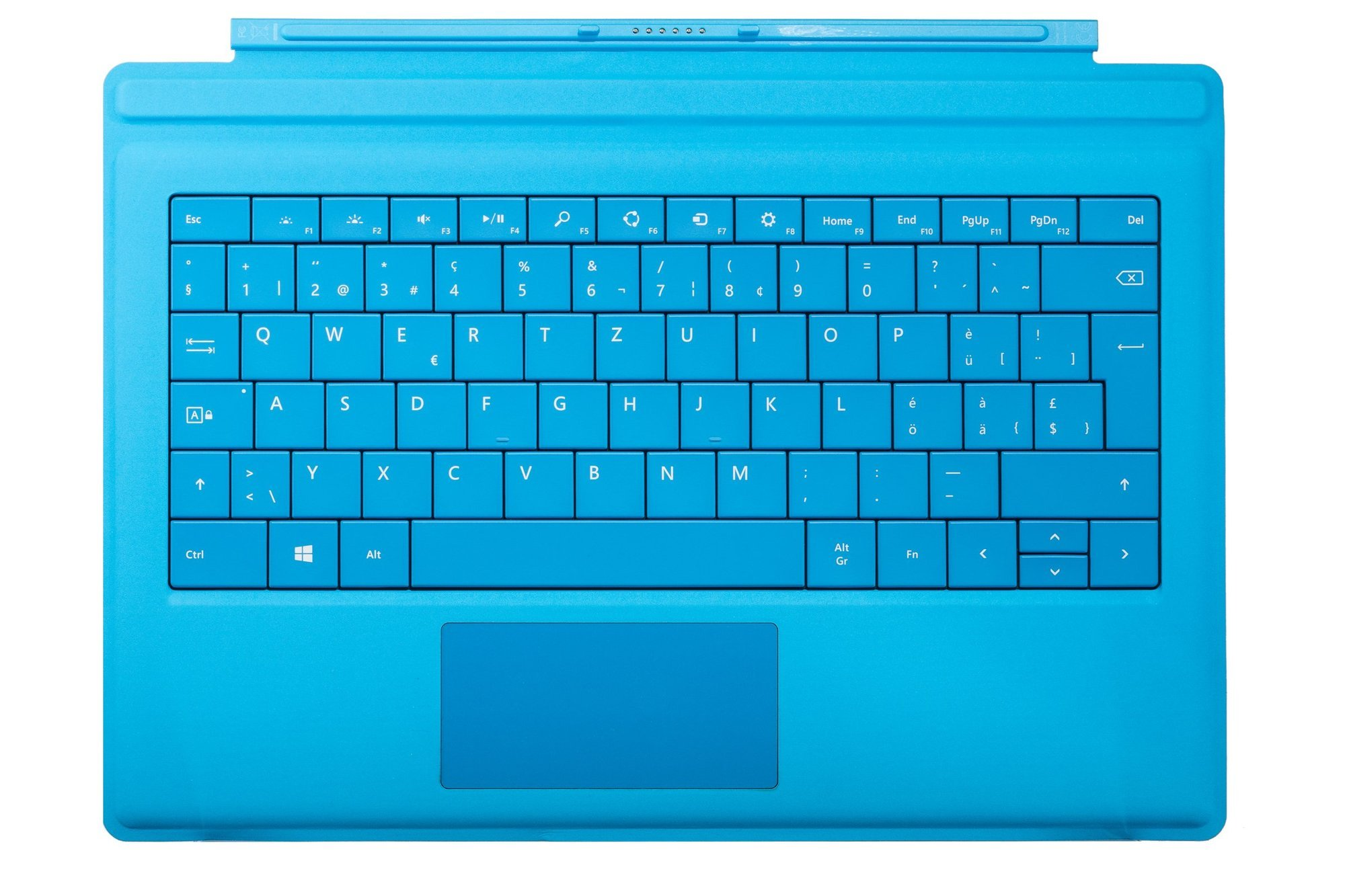 Keyboard Microsoft Surface Type Cover Pro 3 Cyan QWERTZ (Swiss) Grade B