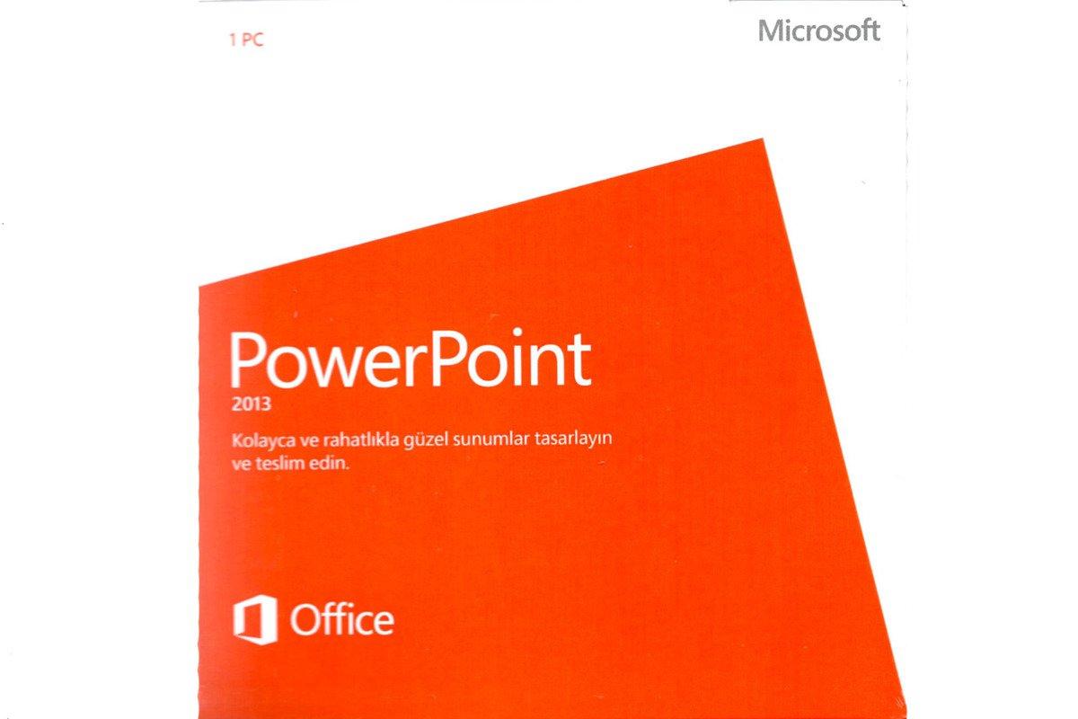 New Genuine Microsoft PowerPoint 2013 079-05922 Turkish DVD BOX 1PC