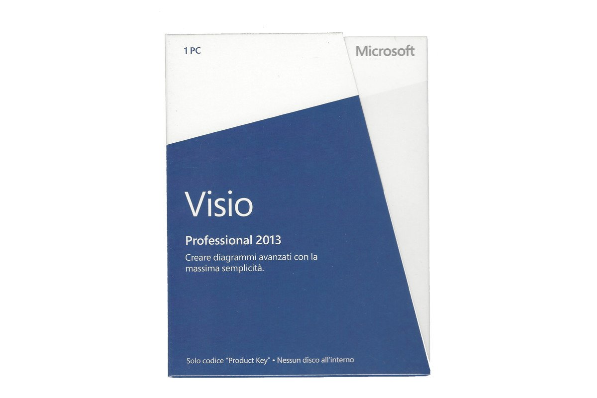 New Genuine Microsoft Visio Professional 2013 D87-05366 Medialess Eurozone BOX