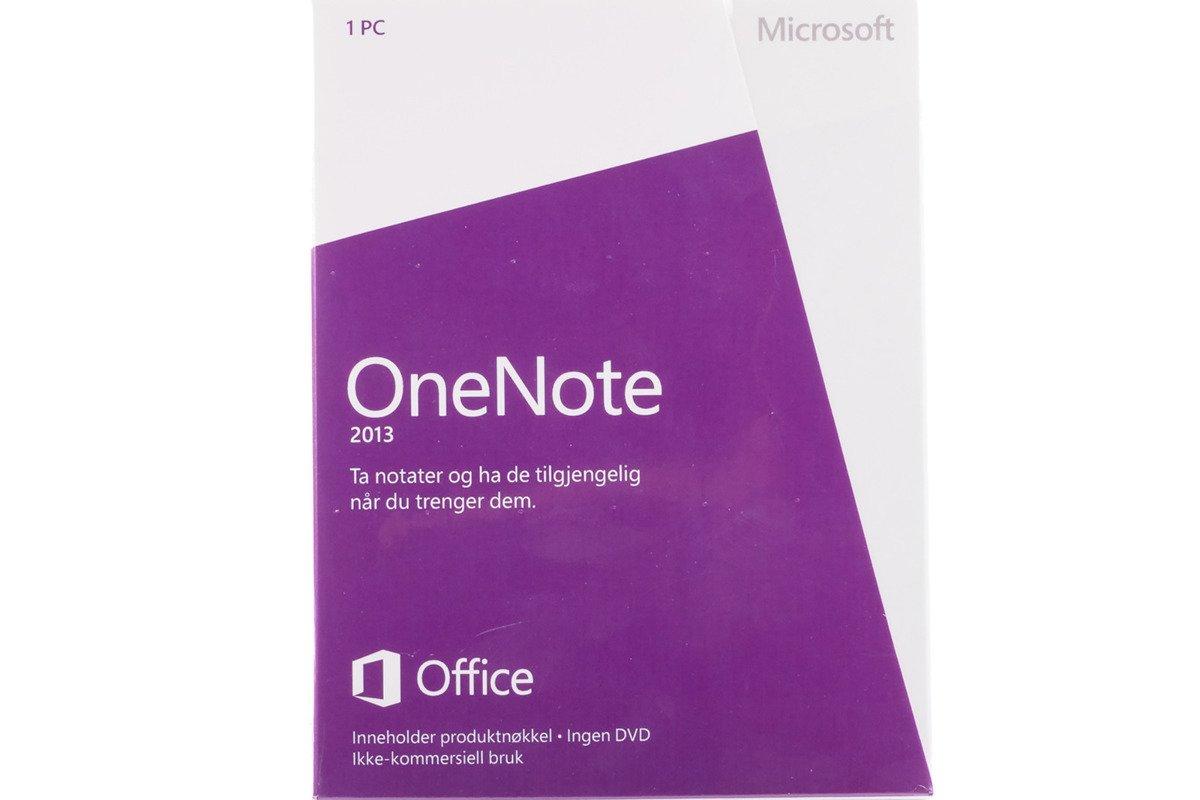 New Microsoft OneNote 2013 32/64 Medialess S26-05113 Eurozone