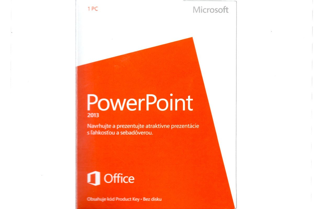 New Microsoft PowerPoint 2013 079-05916 Slovak Medialess Eurozone Noncommercial