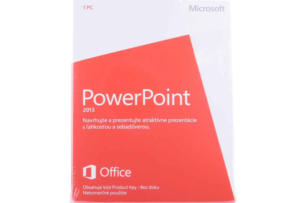 New Microsoft PowerPoint 2013 079-05959 Slovak Medialess Noncommercial