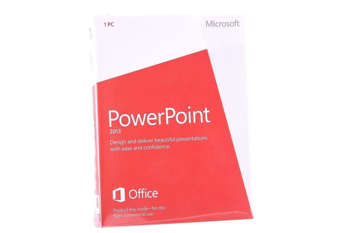 New Microsoft PowerPoint 2013 079-05968 Medialess Noncommercial