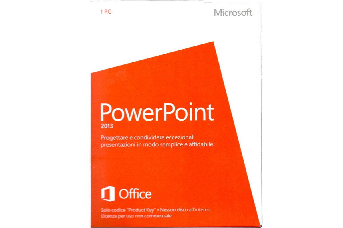 New Microsoft PowerPoint 2013 Italy Medialess Noncommercial 079-05944 Eurozone