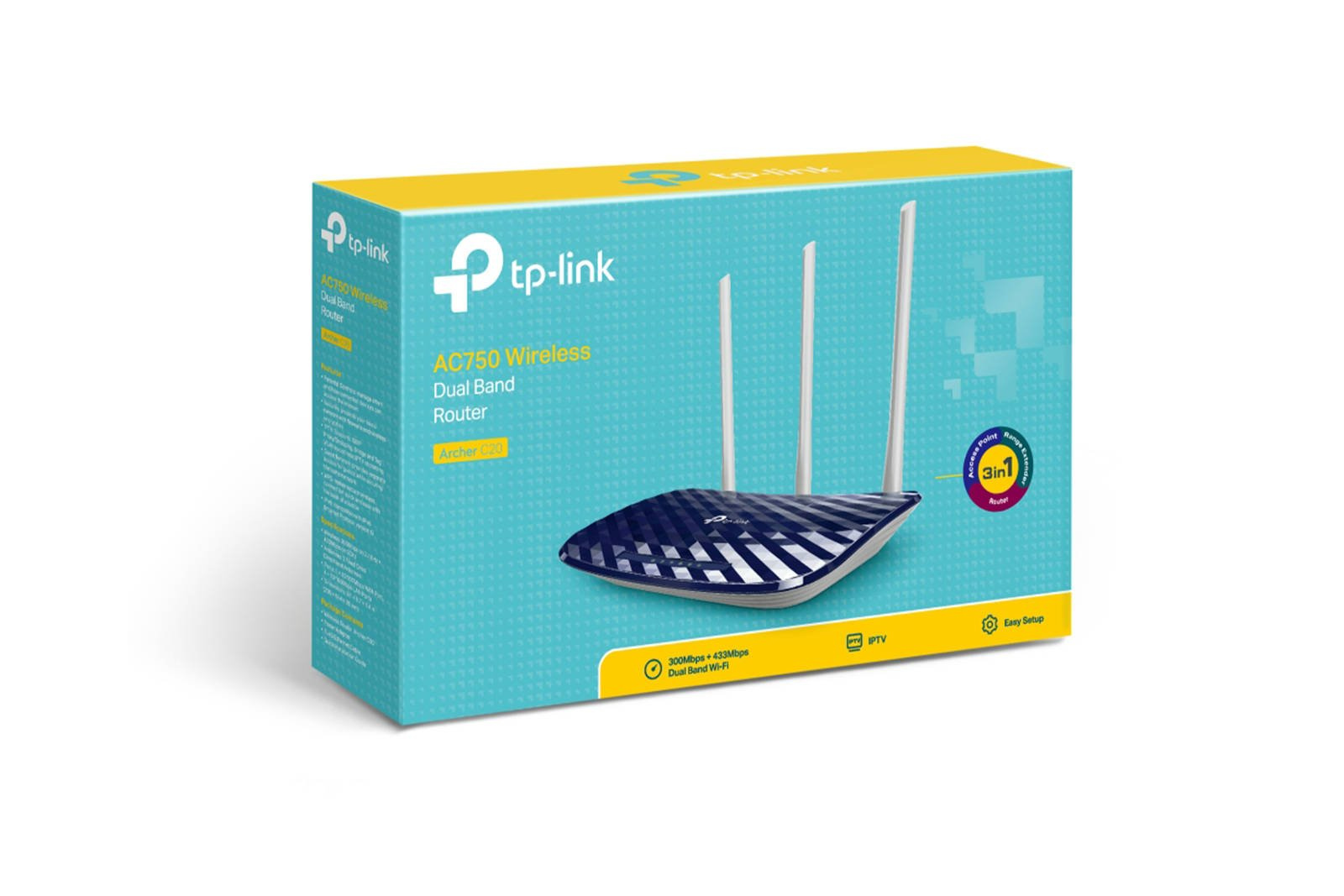 AC750 Wireless Dual-band Router TP-Link Archer C20 V5