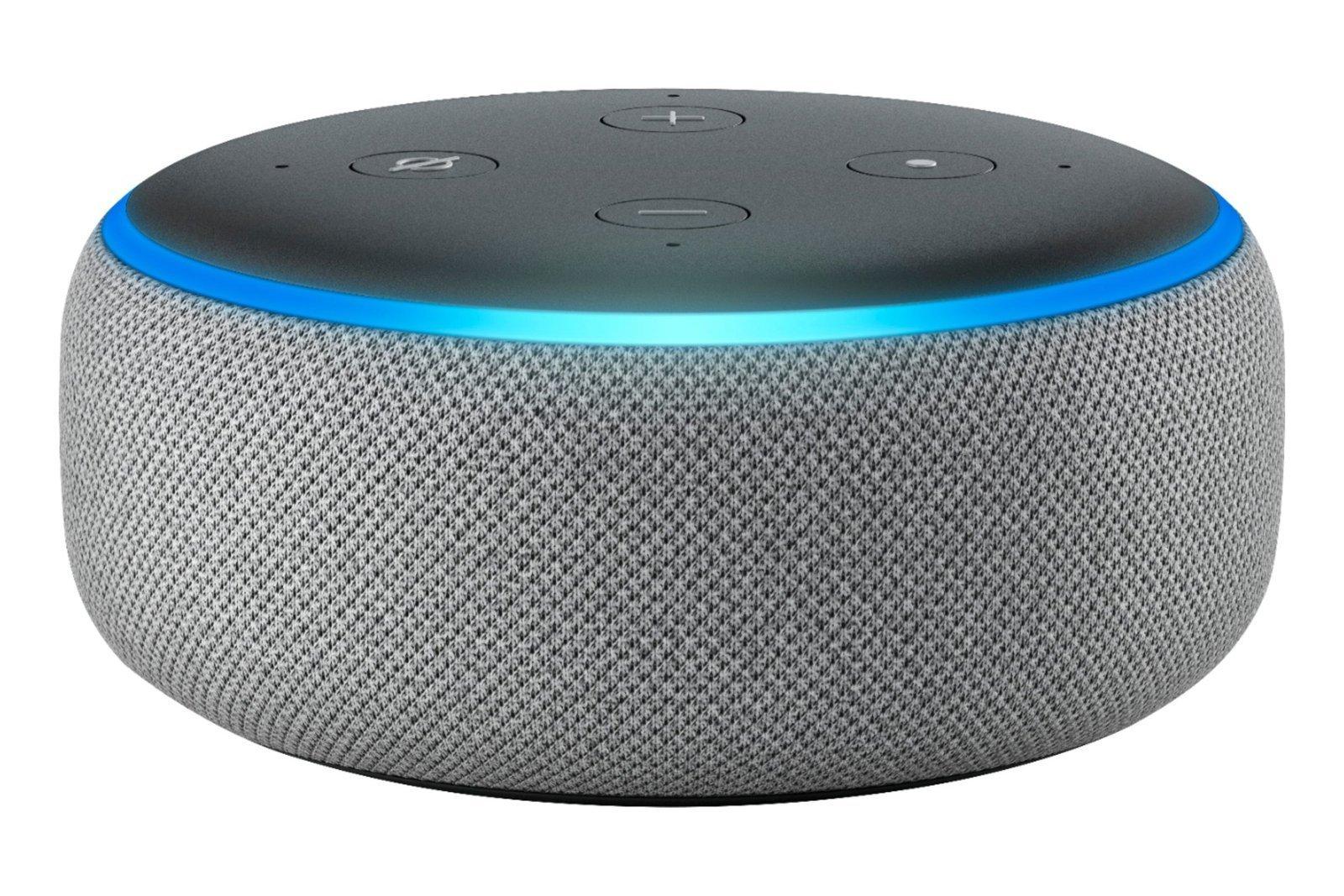 Amazon Echo Dot 3 Gen Smart Speaker with Alexa Heather Gray