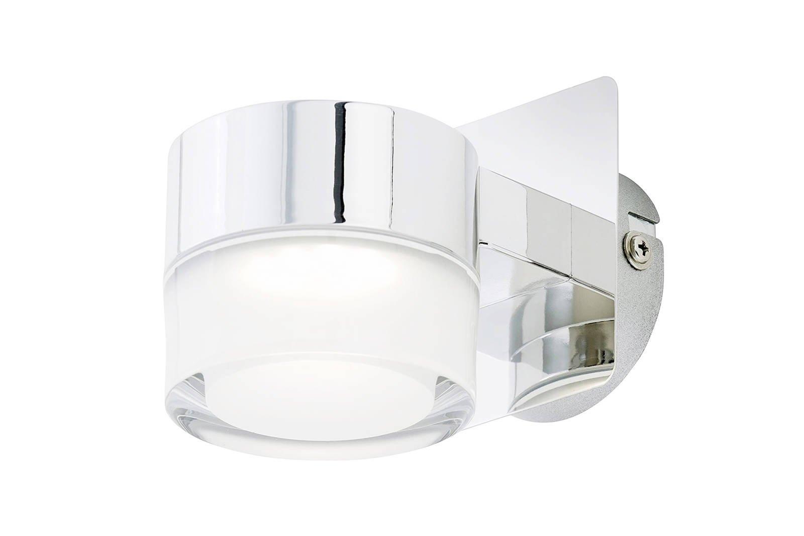 Briloner Leuchten LED Bathroom Wall Light Include LED 400 Lumen Chrome IP44
