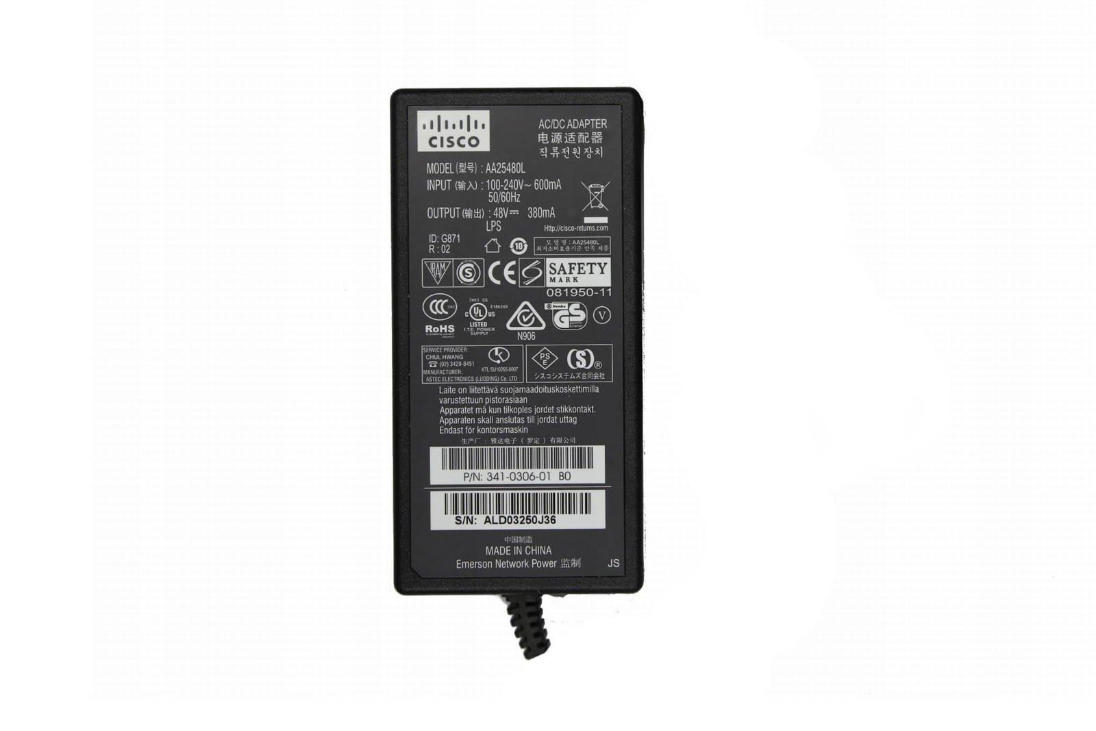 Charger Cisco 48V 0.38V 182W AA25480L 5.5/2.5mm