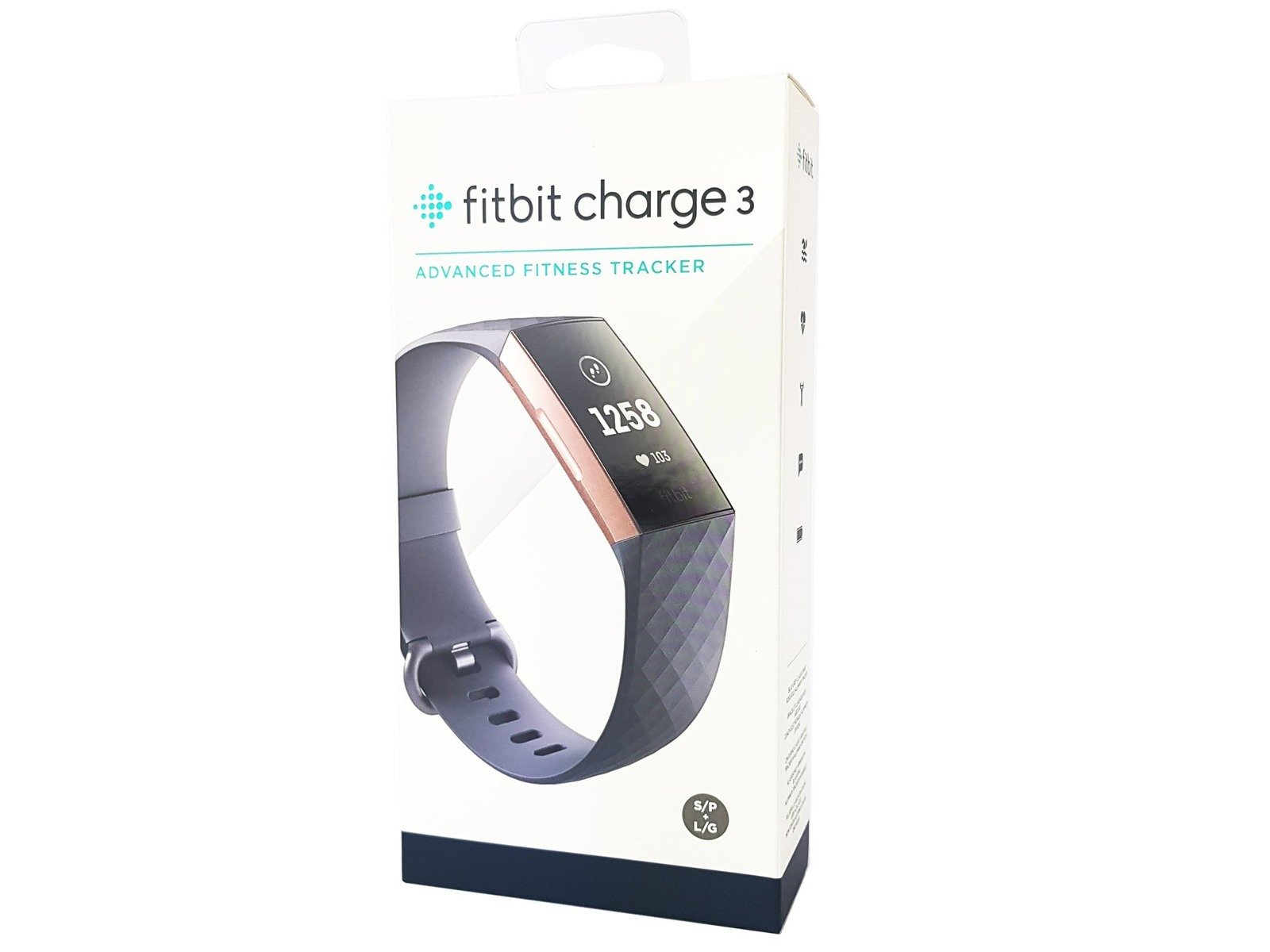 Fitbit Charge 3 Rose Gold / Blue Grey Smartband Tracker