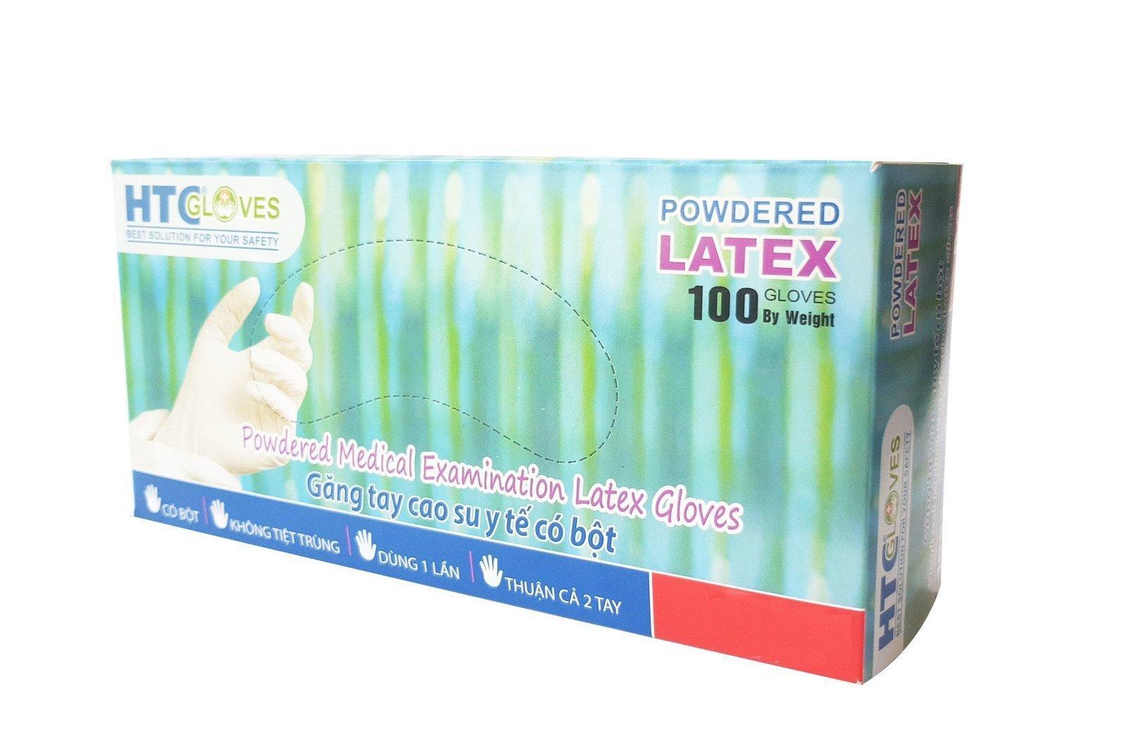 HTCGloves Medical gloves Latex Powdered Size L 100 pcs