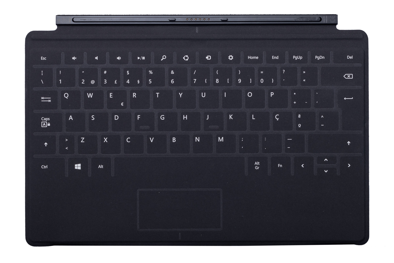 Keyboard Microsoft Surface Touch Cover 1 Black QWERTY (Portuguese) Grade B