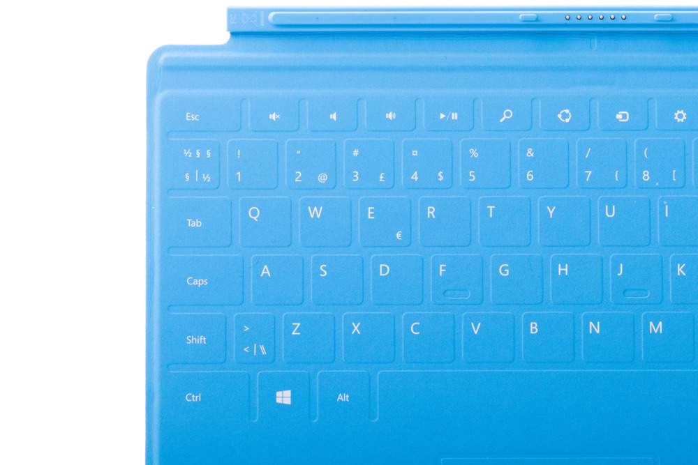 Keyboard Microsoft Surface Touch Cover 1 Cyan QWERTY (Nordic) Grade A