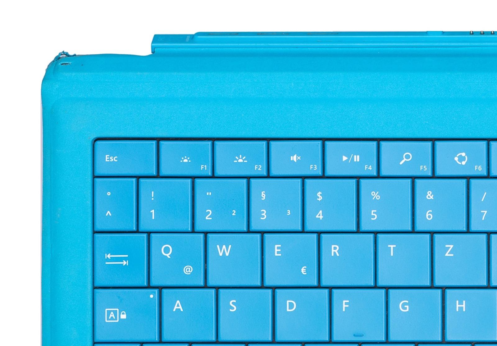 Keyboard Microsoft Surface Type Cover Pro 3 Cyan QWERTZ (German) Grade C