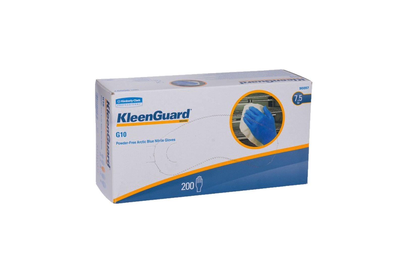 KleenGuard G10 Powder-Free Arctic Blue Nitrile Gloves 7.5 Size M 200 pcs