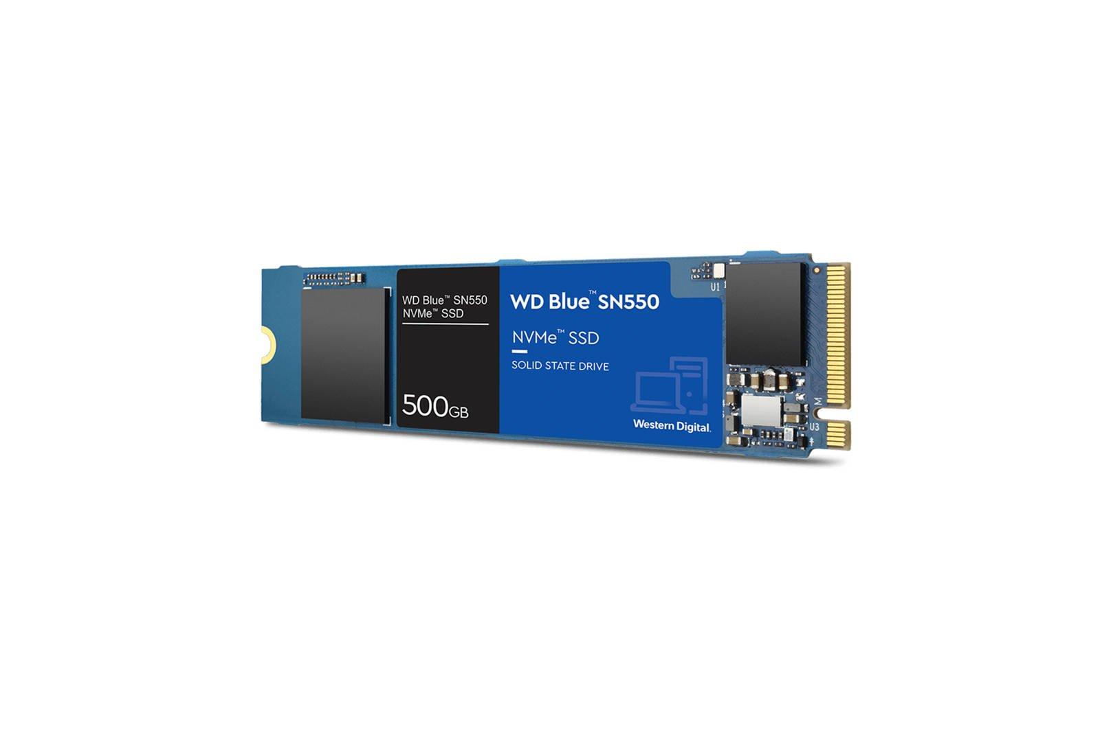 SSD Western Digital Blue 500GB M.2 PCIe NVMe 3.0 SN500 (WDS500G2B0C)