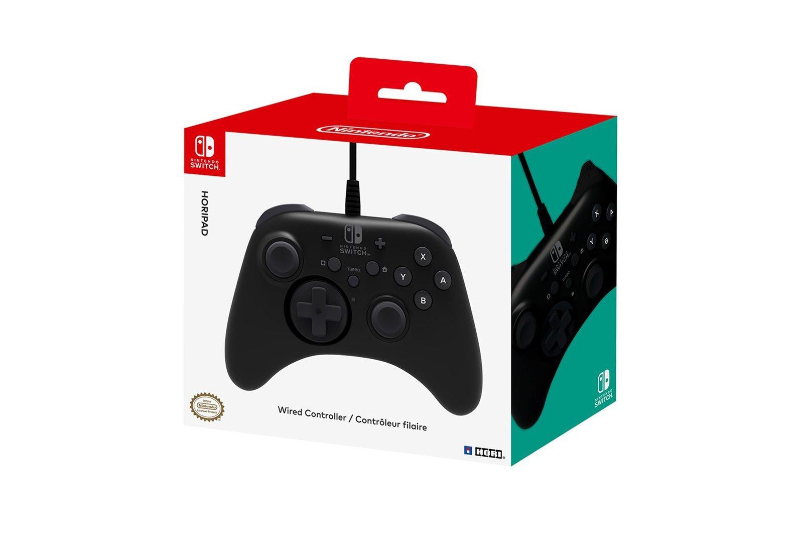 Wired Gamepad Hori Nintendo Switch Horipad NSW-001U Black